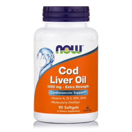 Cod Liver Oil Extra Strength 1,000 mg Softgels